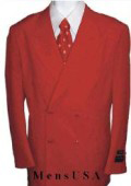 SKU# HTB4 2pc MEN'S SHARP Double Breasted DRESS SUIT Red Suits $139