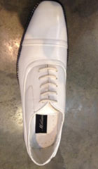 SKU#PN_W8 Mens Dress Shoes White $85