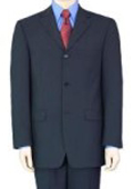 3/4 Buttons Mens Dress Business Dak Navy Blue 100% Wool Super year round Wool Suit $149