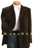 SKU KQV610 MENS NEW Single Breasted 3 button BROWN VELVET Corduroy SPORT COAT VELOUR BLAZER 99