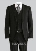 Luxurious Top Quality UMO Collezion 2 Button Solid Vested Suits 100% Wool Mens Suits Com $199