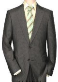 High-quality Construction Two-Button-2 Button Pinstripe Charocoal Gray Shadow Mini Stripe ~ Pinstripe $199