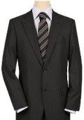 UMO High-quality Construction 2 Button Black om Black Mini Shadow Stripe ~ Pinstripe Ton on Ton $199