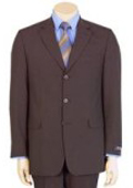 SKU L599 Fine Mens Modern Brown 100 Pure year round Wool 3button Suit 99