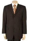SKU MU99 Mens Dark Brown 100 Pure Wool SUPER 120 3button No Vent 99