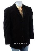 SKU# SGV225 Retail $1295 Navy Blue 100% Wool Flat Front No Pleated Pants & 2 Button Notch Jacket On$199