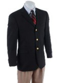 SKU# HLS907 3ZW-1 Men's 3 Buttons Classic Sportscoat Features 3 Buttons Blazer Front Entry Notched Collar $149