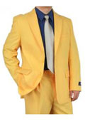 Mens Two Button Style Gold ~ Yellow ~ Tangerine Color Discounted Affordable Suit $109