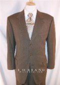 SKU PNE709 Loriani CharcoalMixh Brownish Sharkskin Mini Shadow Pattern Ticket Pocket Vested Single Breasted 3