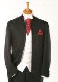 Mandarin Collar Tuxedo Suit Light Weight + Any Color Vest $295