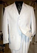 White Ton on Ton Pinstripe Shadow Stripe ~ Pinstripe 3 Button $139