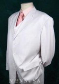 WHITE EXTRA FINE Soid White COLOR 3PC VESTED SUIT $169
