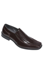 SKU#AC-338 Men's High Quality Man-Made Leather Shoes Loafer Slip On Mens Shoe/Slip-On Brown $59