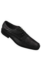 SKU#AC-341 Men's High Quality Fashion Dress Shoes Snake Pattern Black $59