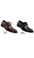 SKU#AC-343 Men's Casual Basic Faux Leather Dress Shoes Brown,Black Gray $59