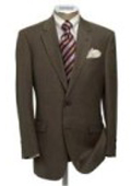 SKU km159i MensUSAcom Exclusive Mens Dark Brown 2 Button Super Dress Wool 159
