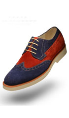 SKU#AC-515 Angelino-T-Suede-Navy-Shoes $125
