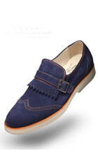 SKU#AC-524 Angelino-Suede-Navy-Shoes $125
