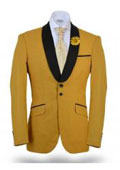 Floral Satin Shiny unique Paisley Sport Coat Jacket Yellow $225