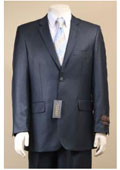 SKU#AC-684 Two Button Suit New Edition Shiny Sharkskin Navy Blue $189