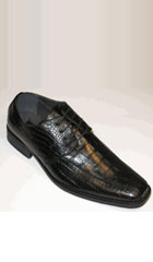 SKU#AC-759 Exotic Croco Print Tie Up For Style And Comfort Black $65
