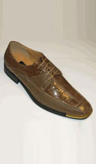 SKU# AC-760 Exotic Croco And Lizard Print Tie Up For Style And Comfort Brown Gold$65