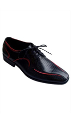 SKU# AC-787 Two Tones Shoes Black/Purple $65