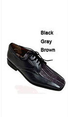 SKU#AC-796 Two Tones Shoes Black,Grey,Brown $65