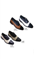 SKU#AC-797 Two Tones Shoes Black/White $55