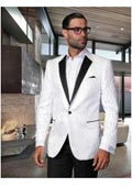 SKU#AC-965 Floral Mens Satin Shiny Unique Paisley Sport Coat Sequin Shiny Flashy Silky Satin Stage Fancy Stage Party Two Toned Blazer / Sportcoat / Mens Jacket / Dinner Jacket White