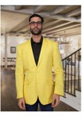 Mens Summer Linen Light Weight Blazer ~ Sport coat ~ Jacket Yellow $175
