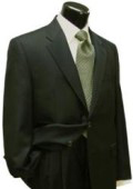 SKU# LX325i Men's Dark Olive Green (Hunter) 2 Button Super Wool Suit