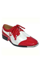 Mens Dress Shoes Red White