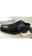 SKU#XA72 Men's High Quality Fashion Animal/Alligator Print Dress Shoes Dark Navy $75