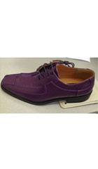 SKU#014S Men's Fashion Printed Design Dress Shoes Oxford Faux Leather Purple$75