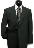 SKU#CLK500 Men's Black Classic Two Button Style Super Wool Suit