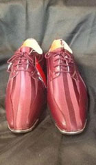 SKU#ET48C Mens Burgundy Maroon Wine Dress Two Toned Shoe $99