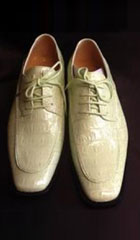 SKU#ET49C Mens Mint Green Lime Dress Exotic Skin Look Dress Shoe $99