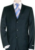 SKU TD545i Small Navy Blue Pinstripe Super 150s Wool Man Suit 199