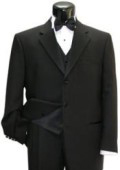 SKU# JD-I494 Men's Black and Red Pinstripe Fashion Zoot Suit $169