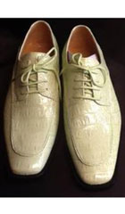SKU#FG458 Mens Lime Green ~ Mint Stage Party Classic Oxford Exotic Alligator Skin Dress Shoes $99
