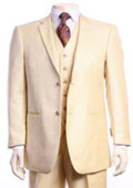 SKU#AA404 Men's Beige Sharkskin Champagne 2 Button 3 Piece Modern Fit Vested Suit