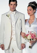 SKU# NY_Y72 Off White~Ivory~Cream Men's 2 Button style tuxedo Dress Suits