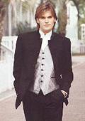 Stand-Up Mandarin Collar Black Mandarin Tuxedo (5 Button Style) $595