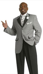 SKU#MK311 Mens 2 Buttons Houndstooth Window pane plaid Black Suit $199