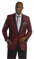 Floral Satin Shiny Tuxedo Dinner Jacket Blazer Paisley Sport Coat Sequin Shiny Flashy Satin Stage Fancy Stage Party Dance Jacket Wine ~ Red ~ Burgundy