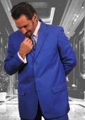 Mens Festive Royal Blue Single Breasted Men Dress Suits $109