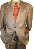 2 btn Taupe-Beige Checker Mini Pindots Teakweave Nailhead Salt & Pepper Birdseye Patterned Suit $179