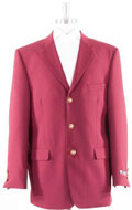 Men's 2 Button Burgundy ~ Maroon ~ Wine Color Blazer Sport Coat $139