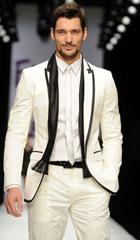 SKU#MK645 Mens Custom Made To Measure Ivory White Groom Tuxedo With Black Edge ,Bespoke Tailored Groom Suits (Jacket+Pants+Tie+Pocket Square)